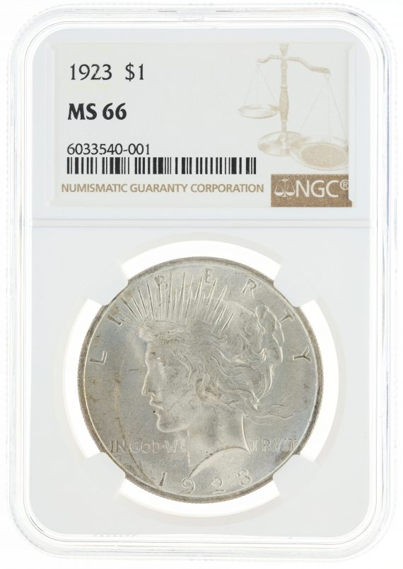 1923 Peace Dollar MS66 ICG S$1 obv
