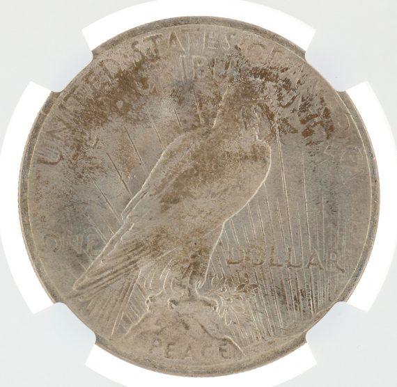 1923 Peace Dollar MS66 ICG S$1 rev zm