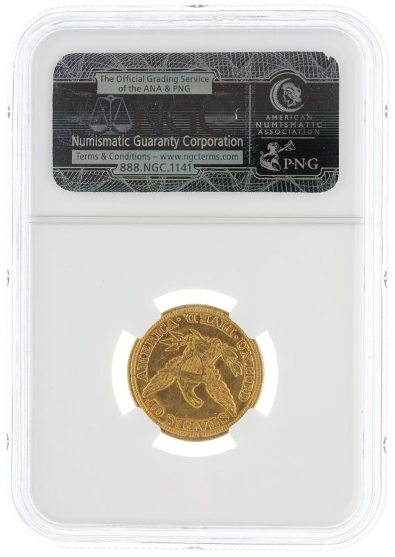 1849 Half Eagle NGC MS61 $5 Liberty Headrev