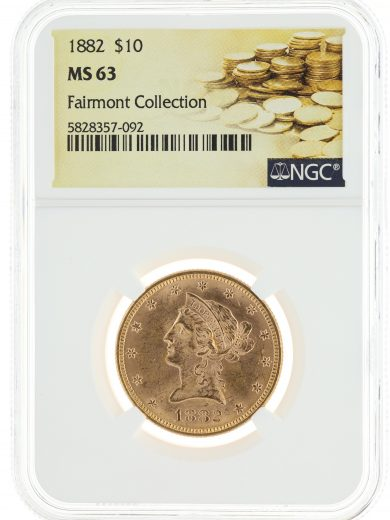 1882 Gold Eagle NGC MS63 $10 Fairmont Collection obv