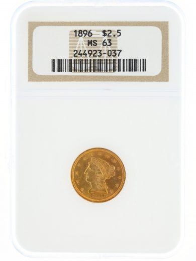 1896 Quarter Eagle NGC MS63 $2.50 obv