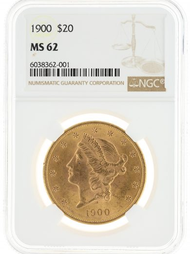 1900 Double Eagle NGC MS62 $20 Liberty Head obv