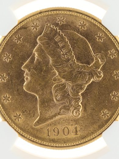 1904-S Double Eagle NGC AU58 $20 Liberty Head OBV ZM