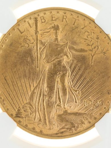 1926-D Saint Gaudens NGC MS61 $20 09001 obv-zm