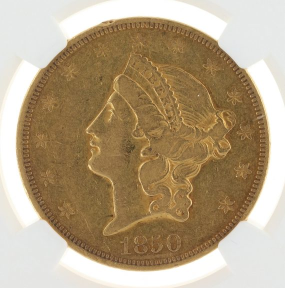 1850 Double Eagle NGC XF40 $20 69005 obv-zm