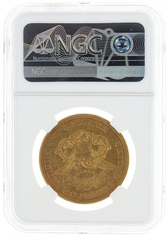 1850 Double Eagle NGC XF40 $20 69005 rev