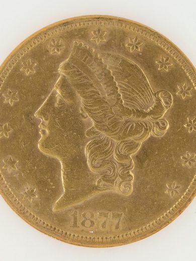1877-S Double Eagle NGC AU50 $20 63009 obv-zm