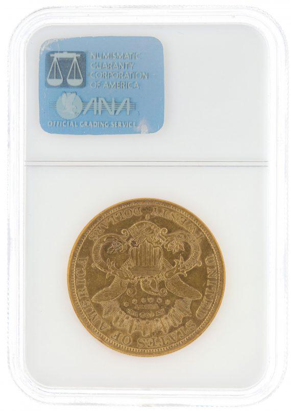 1877-S Double Eagle NGC AU50 $20 63009 rev