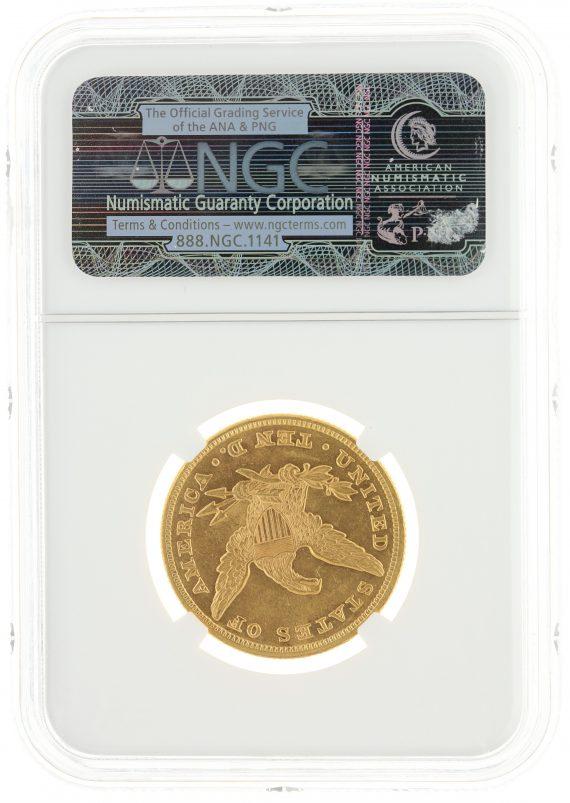 1860 Gold Eagle NGC MS61 $10 72012 rev