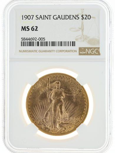 1907 Saint Gaudens NGC MS62 $20 92005 obv