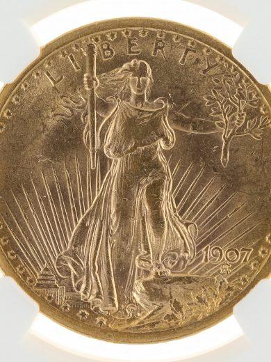 1907 Saint Gaudens NGC MS62 $20 92005 obv-zm