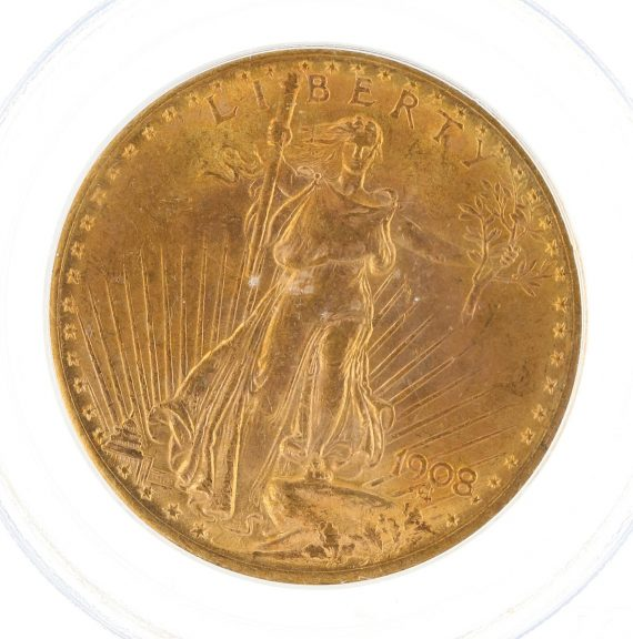 1908 Motto PCGS MS64 $20 97915 obv-zm