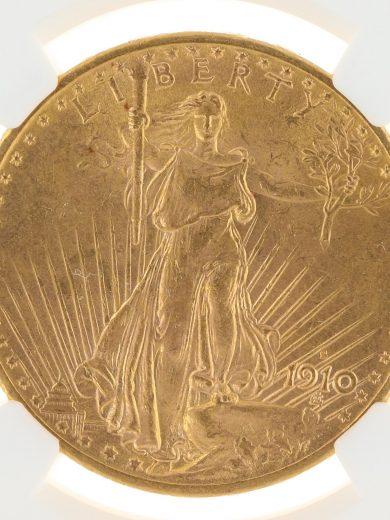 1910-S Saint Gaudens NGC MS62 $20 obv-zm