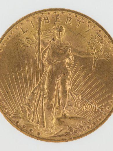 1914-S Saint Gaudens NGC MS65 $20 76002 obv-zm