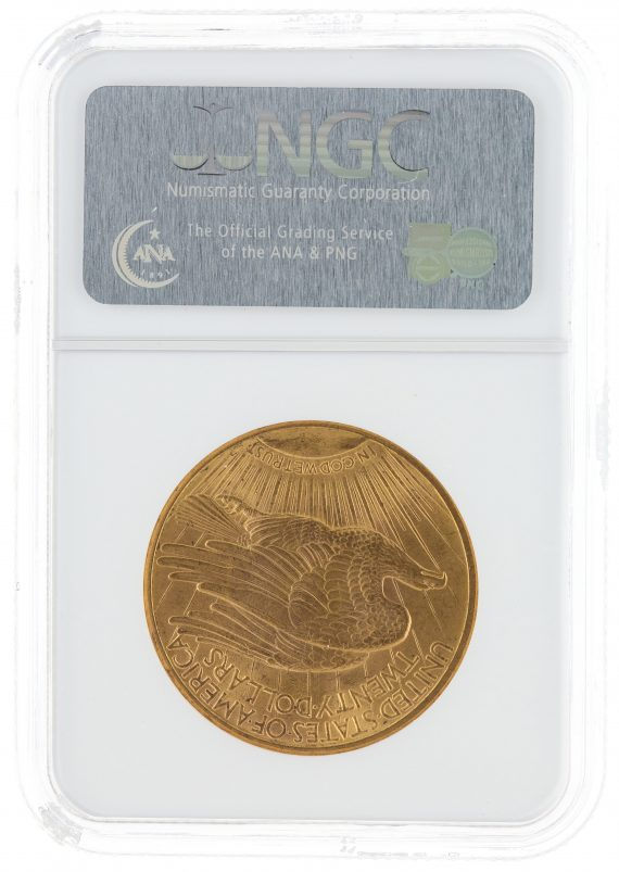 1914-S Saint Gaudens NGC MS65 $20 76002 rev