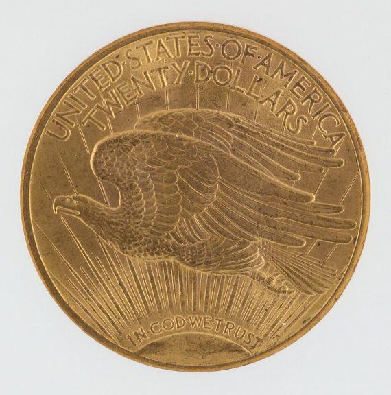 1914-S Saint Gaudens NGC MS65 $20 76002 rev-zm