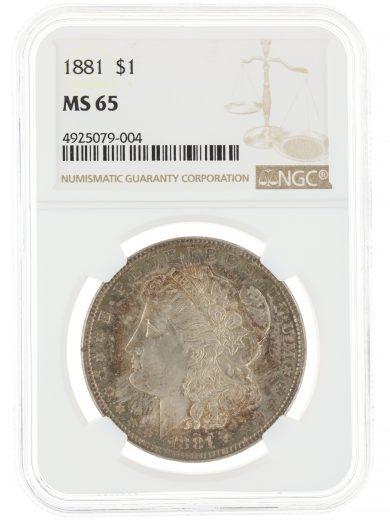 1881 Morgan Dollar NGC MS65 $1