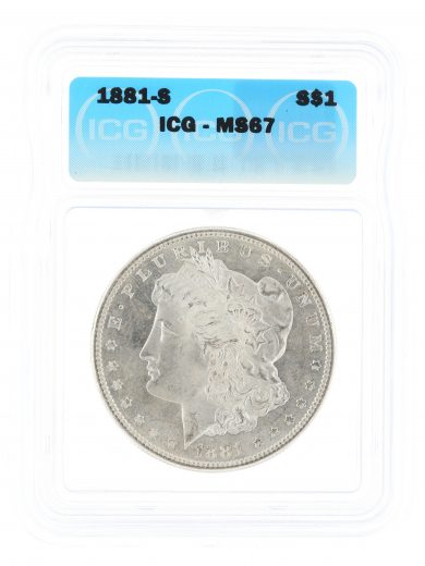 1881-S Morgan Dollar ICG MS67 S$1