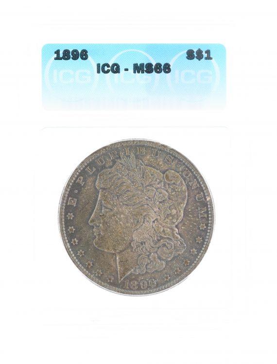 1896 Morgan Dollar ICG MS66 S$1