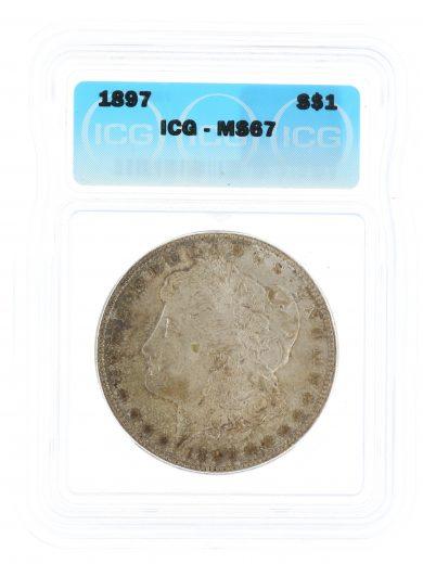 1897 Morgan Dollar ICG MS67 S$1