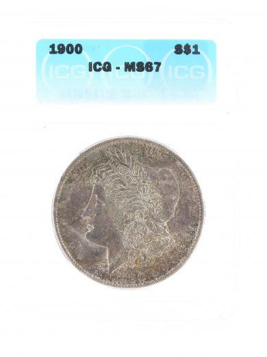 1900 Morgan Dollar ICG MS67 S$1
