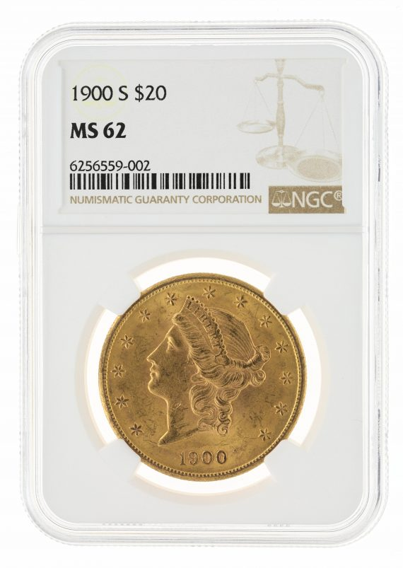 1900-S Double Eagle NGC MS62 $20 59002 obv