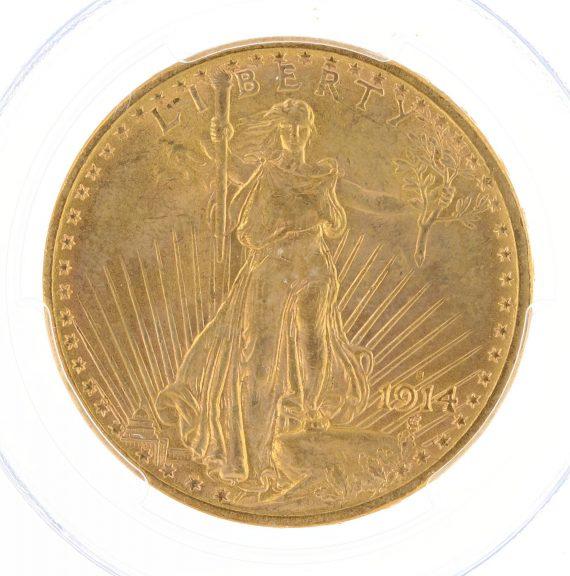 1914-S Saint Gaudens PCGS MS63 $20 15185 obv-zm