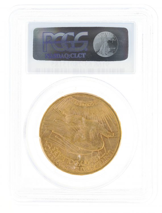 1914-S Saint Gaudens PCGS MS63 $20 15185 rev