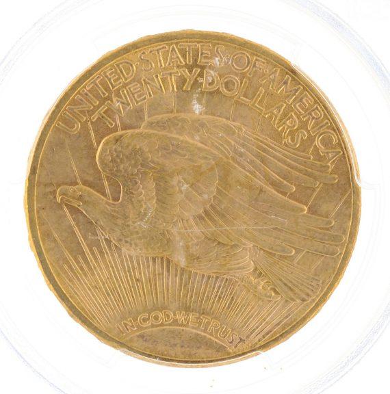 1914-S Saint Gaudens PCGS MS63 $20 15185 rev-zm
