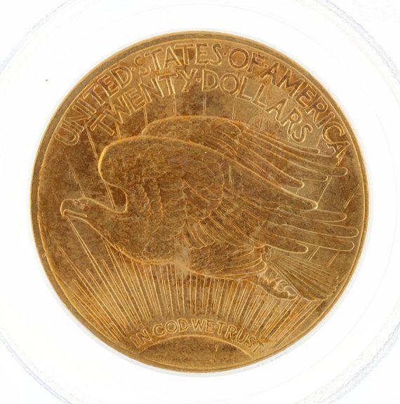 1914-S Saint Gaudens PCGS MS63 $20 34780 rev-zm