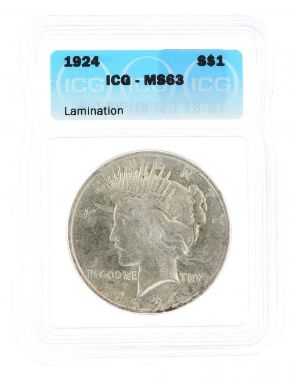 1924 ICG Peace Dollar MS63 S$1