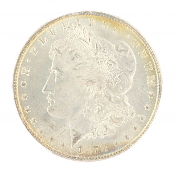 1878 7 Tail Feather Morgan Dollar PCGS MS64 CAC Reverse of '78 $1