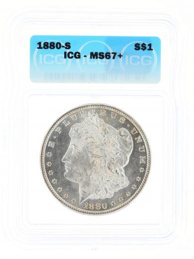 1880-S Morgan Dollar ICG MS67+ S$1