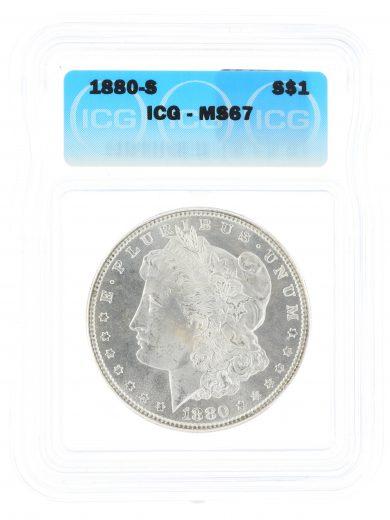 1880-S Morgan Dollar ICG MS67 S$1